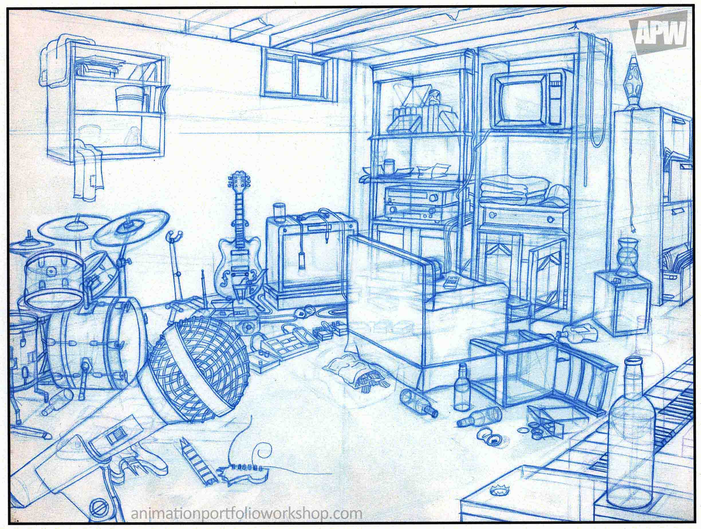 Animation Portfolio Room Drawings Animation Portfolio