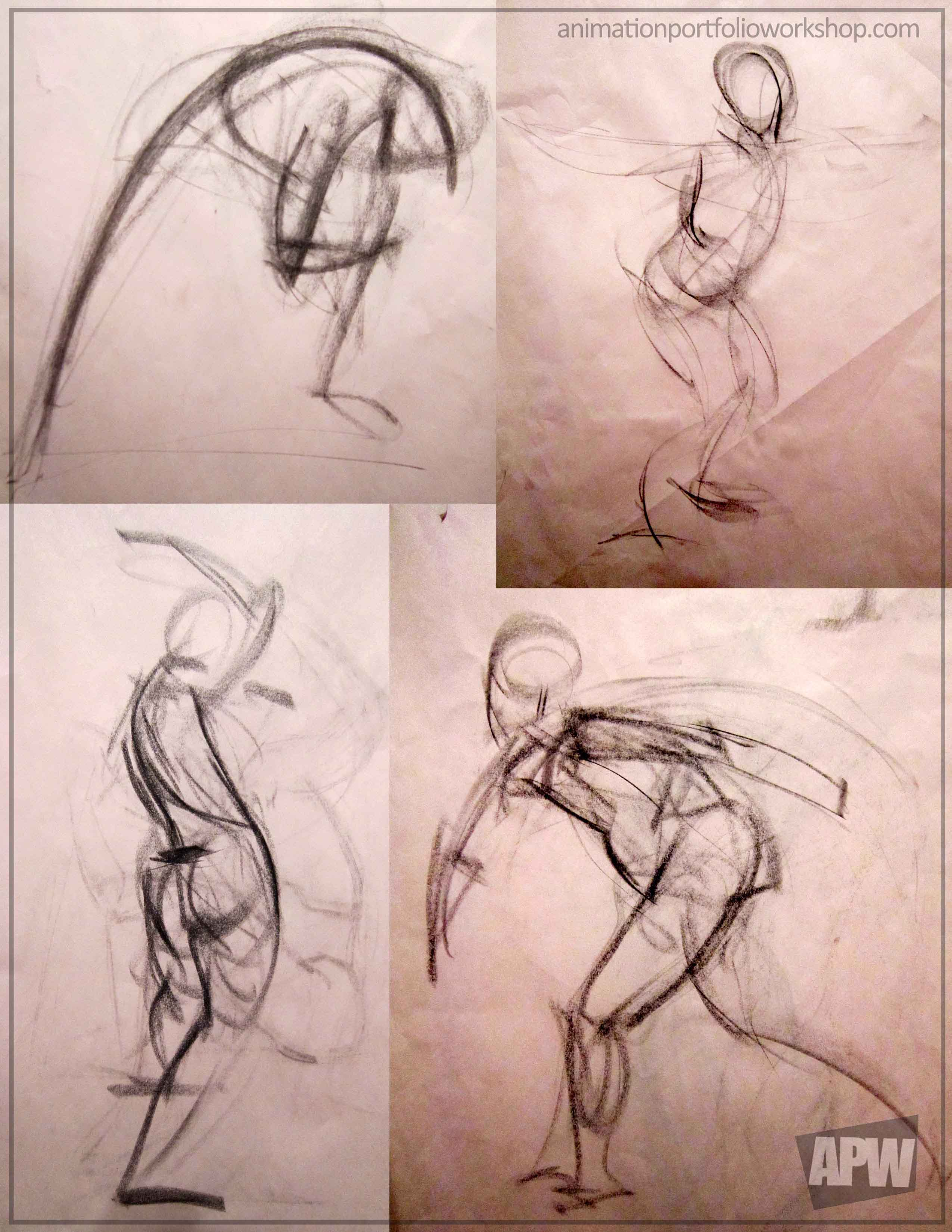 Lots of Gesture Drawing! | Animation Portfolio Workshop