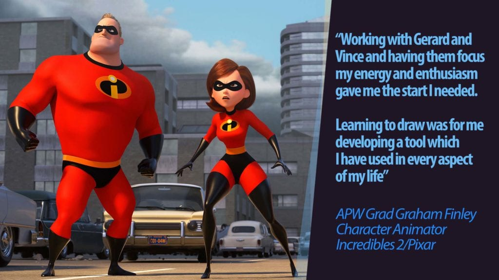 APW grad Graham Finley up for Incredibles 2 Oscar 4