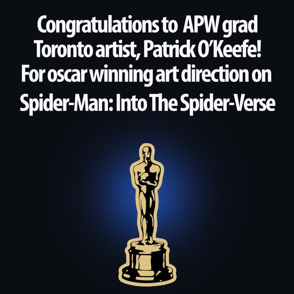 APW grad Patrick O'Keefe - Academy Award winner 1